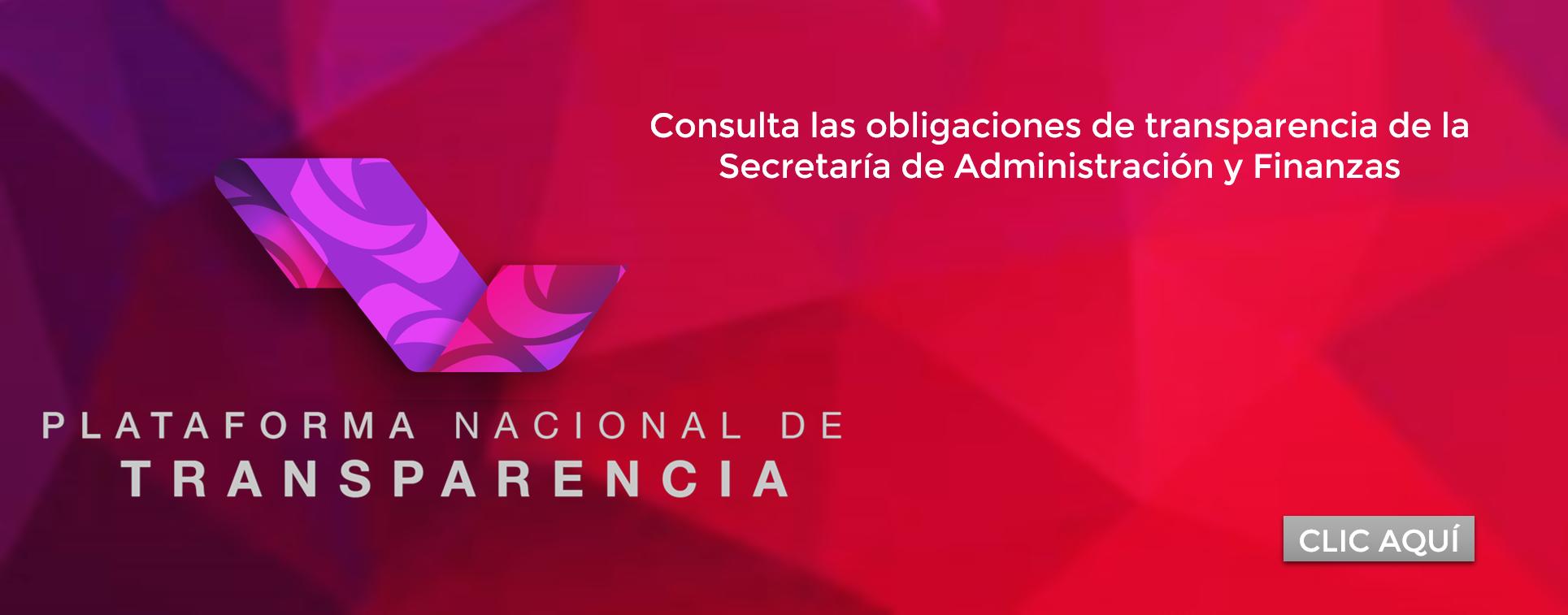 Consulta las Obligaciones de Transparencia de la Secretaría de Administración y Finanzas