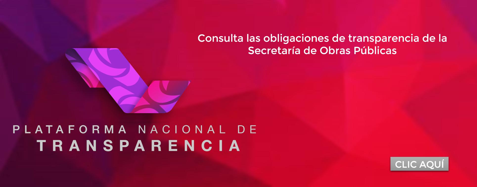 Consulta las obligaciones de transparencia de la Secretaría de Obras Públicas